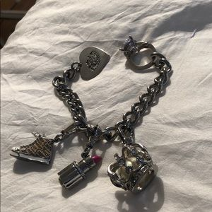 Juicy couture silver charm bracelet